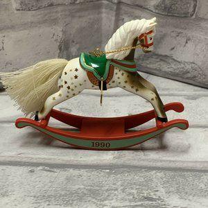 Hallmark Rocking Horse 1990 Ornament QX4646